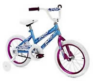 "Girl's 16"" Bike (Available With or Without Training Wheels)"